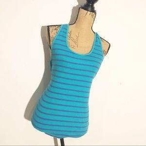 ❤️American Eagle turquoise sleeveless striped tank